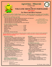 Rock Dust (Mineral Fertilizer)