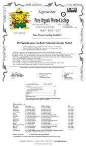 Organic Worm Castings (OMRI Listed)