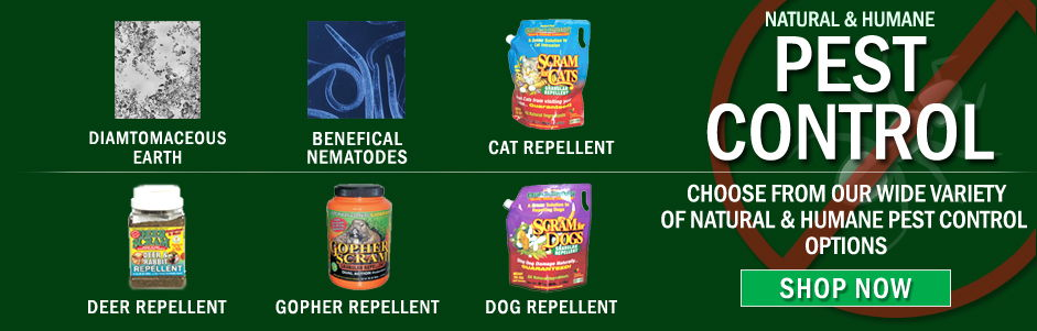 Natural and Humane Pest Control.  Choose from our wide variety of natural and humane pest control options.